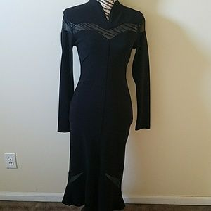 Tower black/sheer dress